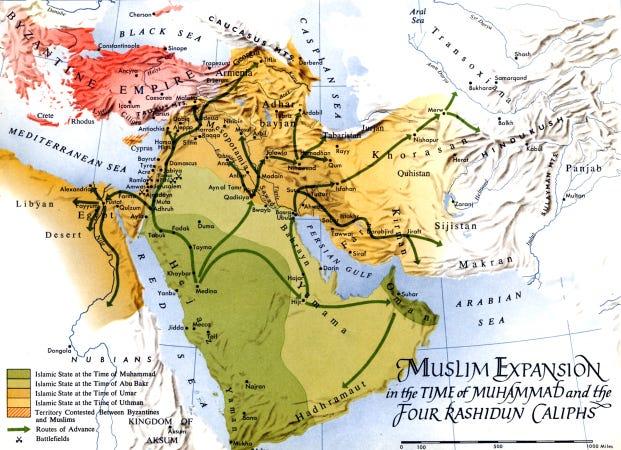 Map - Expansion Muhammad & Rashidun