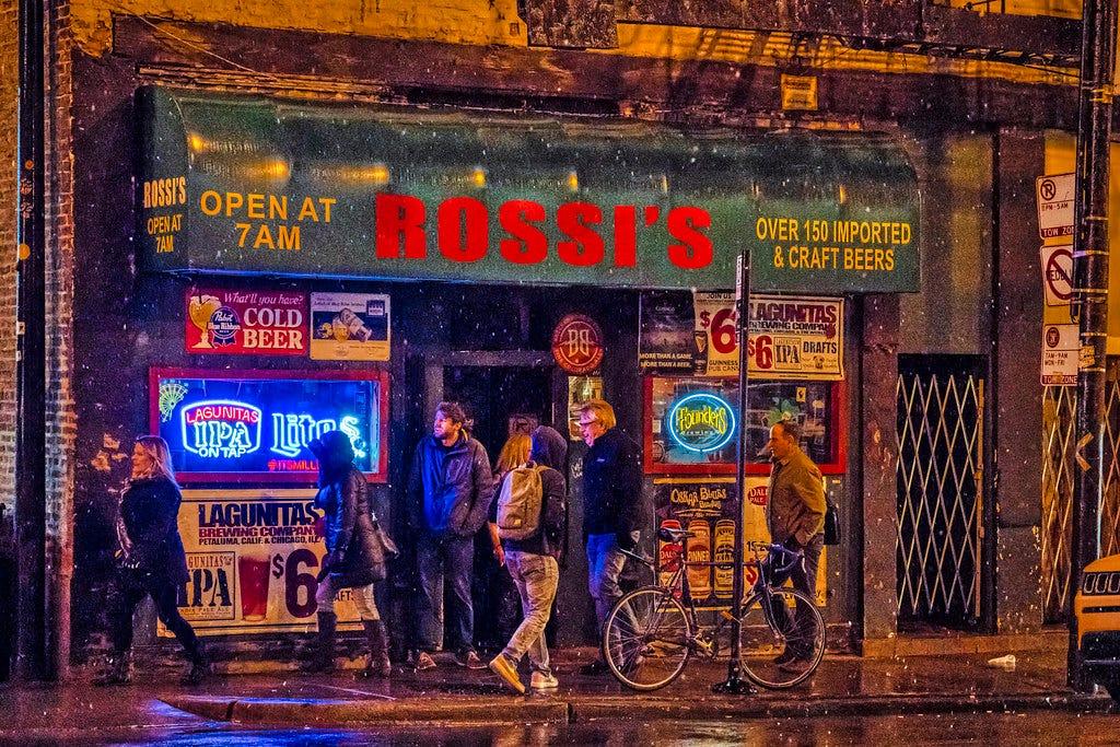 Rossi's Snow Flurries | Dive Bar Chicago PBR Lagunitas | Flickr