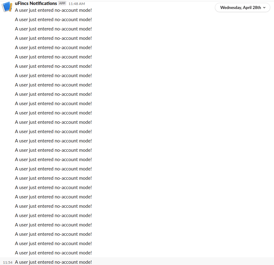 A giant wall of slack messages