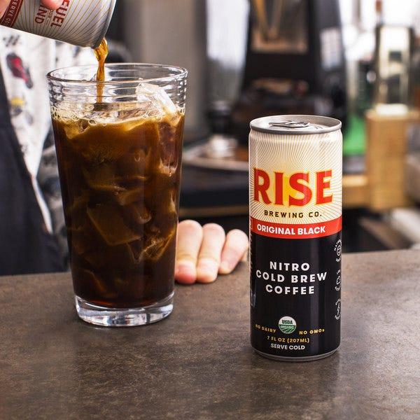 Rise Brewing Co. 7 fl. oz. Original Black Nitro Cold Brew Coffee - 12 ...