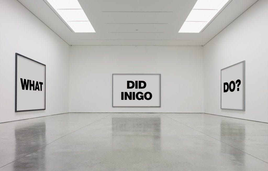 What exactly did Inigo do, and will he get away with it? Image courtesy Artnet Intelligence.
