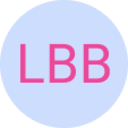 """The logo for the Lovely Buzzword Bingo — the letters """"L"""", """"B"""", and """"B"""" on a blue background."""