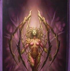 blizzard-employee-kerrigan-queen-of-blades-original-artwork-by-glenn-rane-600x450