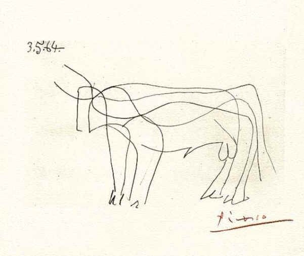 picasso - bull | Bull art, Picasso drawing, Picasso sketches