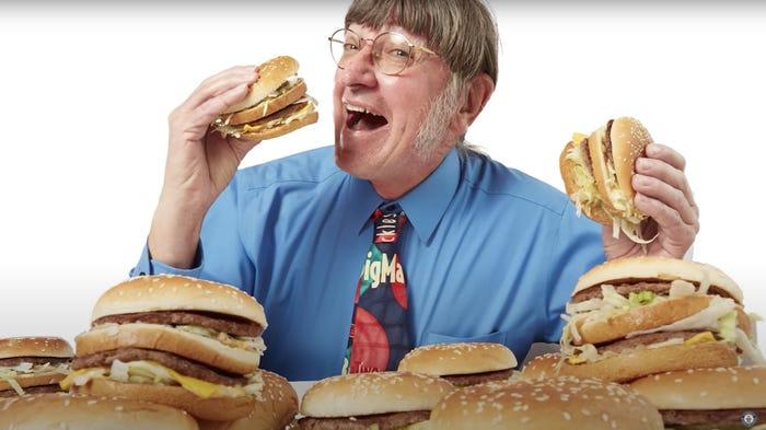 Big Mac record holder Donald Gorske