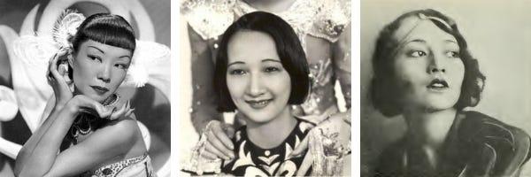 black and white photos of Jadin Wong, Mary Wong, and Laska Winter