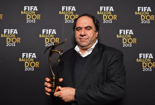 Keramuddin Keram in Zurich in 2014. On Saturday, FIFA, the governing body of global soccer, barred him for life and fined him about $1 million.