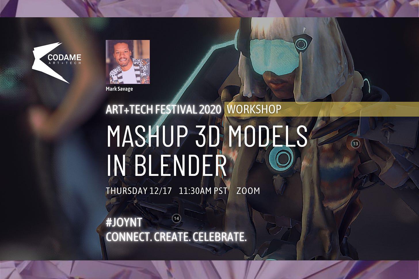 Mashup 3d Models in Blender