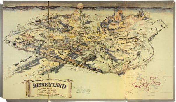 Walt Disney's original map of Disneyland sells for $700,000 at auction –  Orange County Register