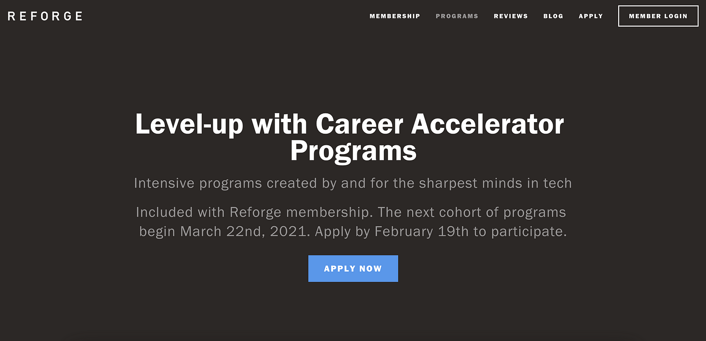 Learn Growth – Reforge Programs
