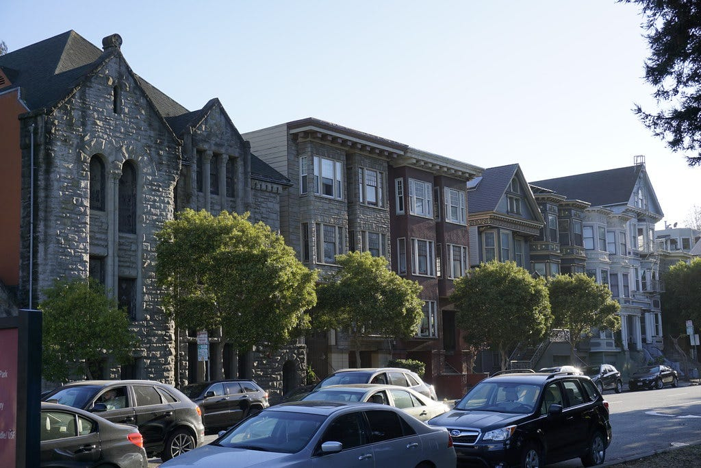 """""""San Francisco Houses"""" by zombiespammer is licensed under CC BY-SA 2.0"""