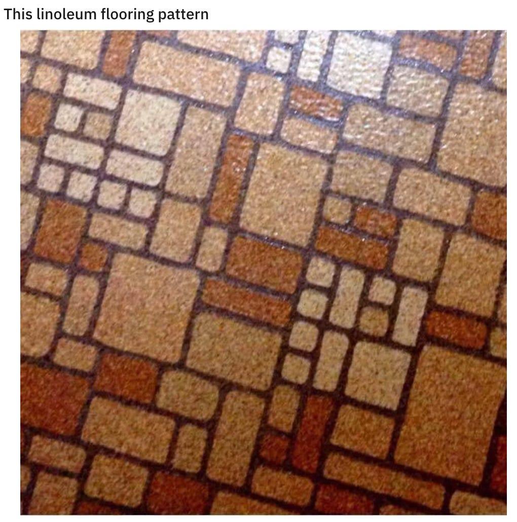 Photo of linoleum floor pattern