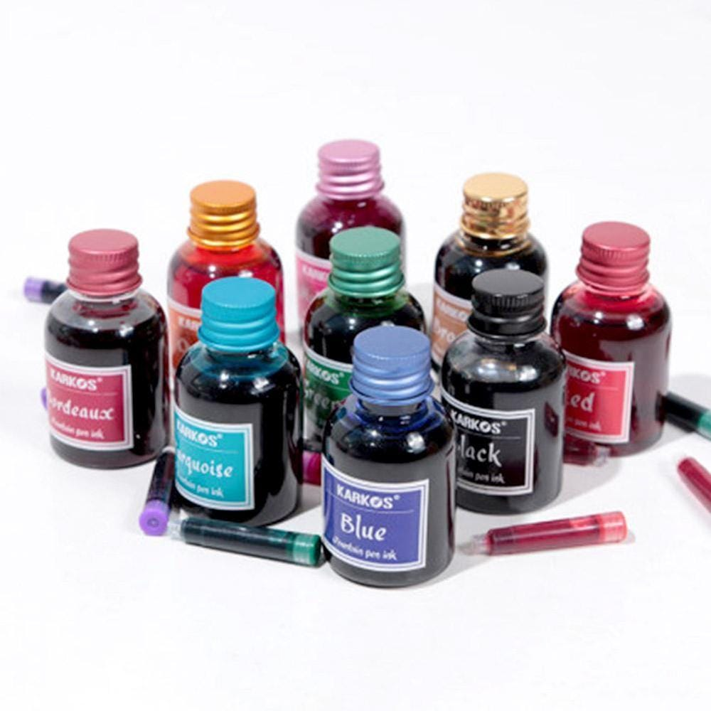 696212572 30ml Pure Colorful Bottled Fountain Pen Ink Refilling Inks  Stationery School Toys & Hobbies/Learning & Education