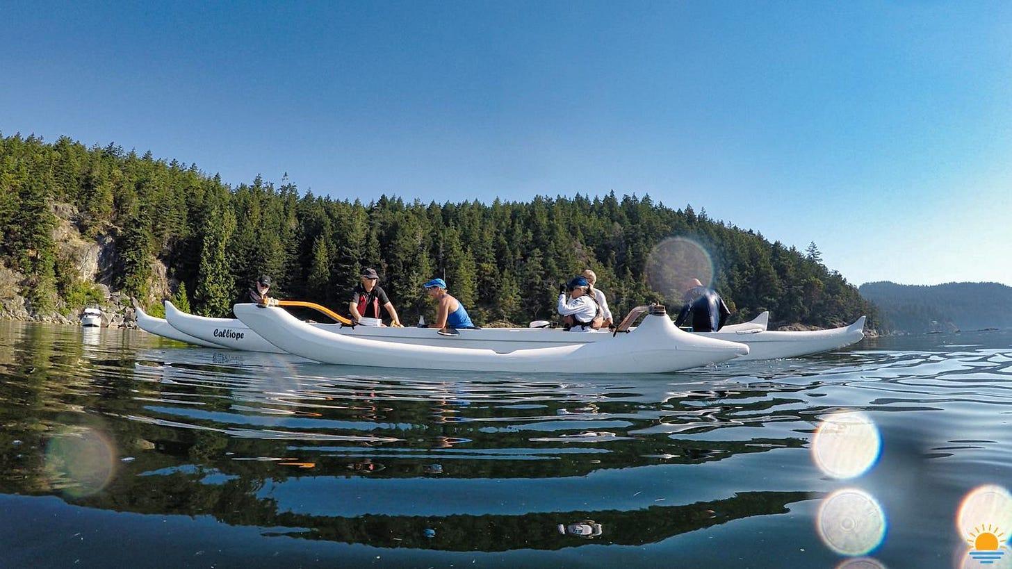 Outrigger canoe on the Sunshine Coast, BC.