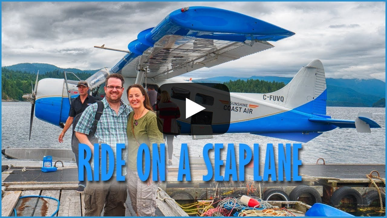 Catching a seaplane on Sechelt Inlet.