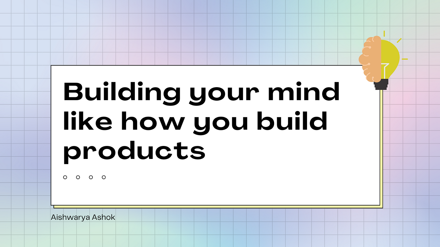 building a product and mindset