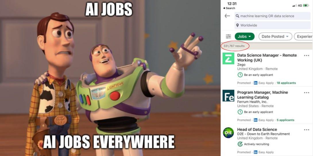 AI jobs everywhere