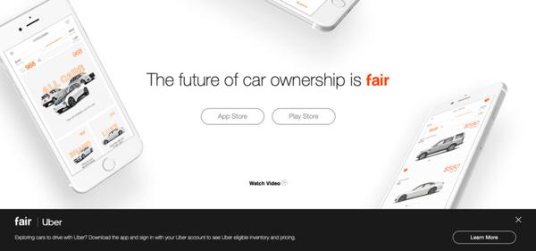 Geleceğin araba sahip olma şekli Fair.com ile araçları satın almanıza gerek kalmadan makul ödeme seçenekleri ile araç sahibi yapıyor sizi, Uber için bile!