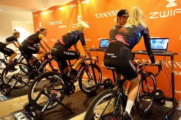 Spinning wheels with CANYON//SRAM Racing: Virtually Pro   Zwift