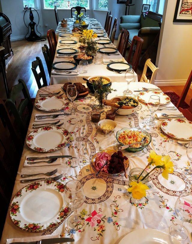 Dinner table photo