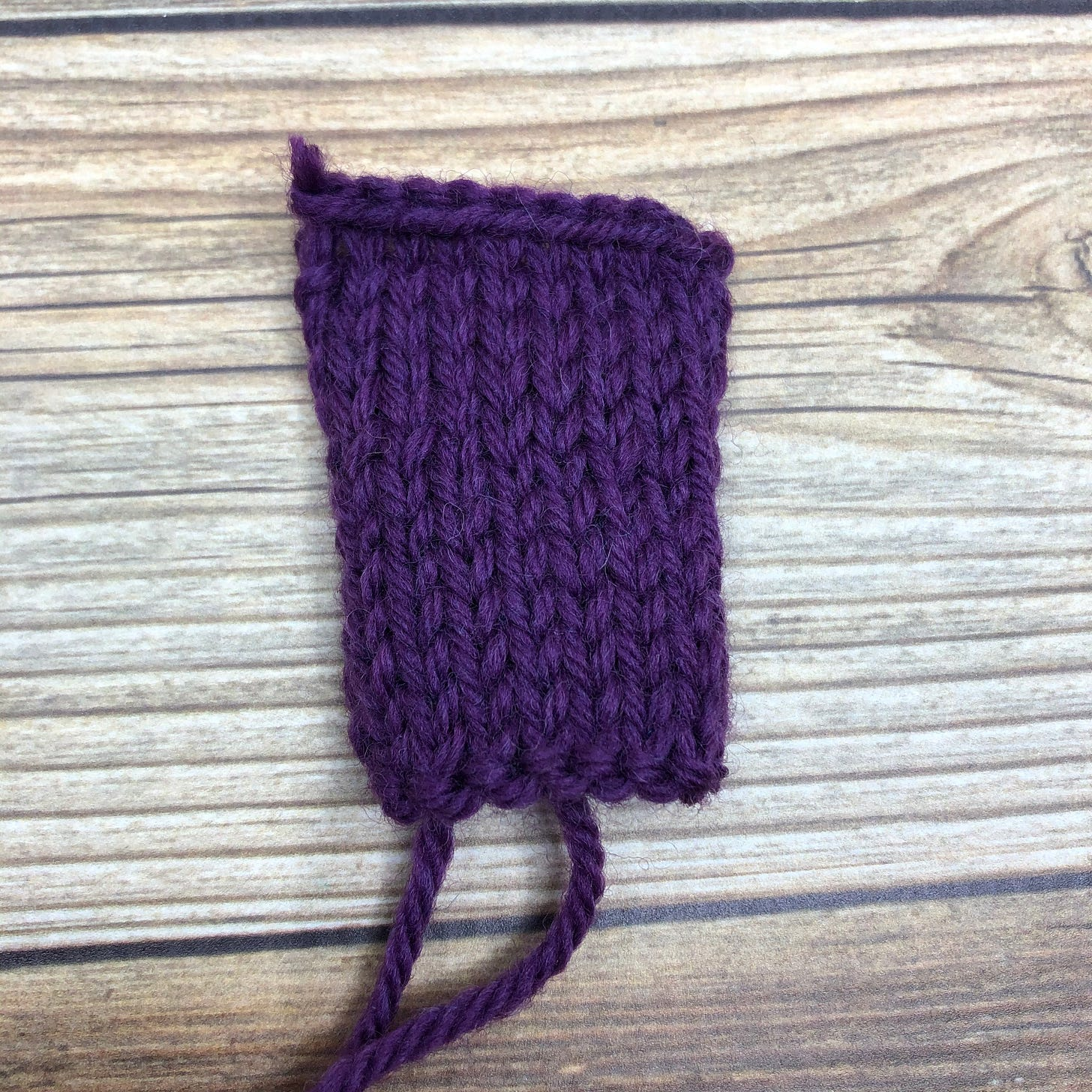 Finished swatch