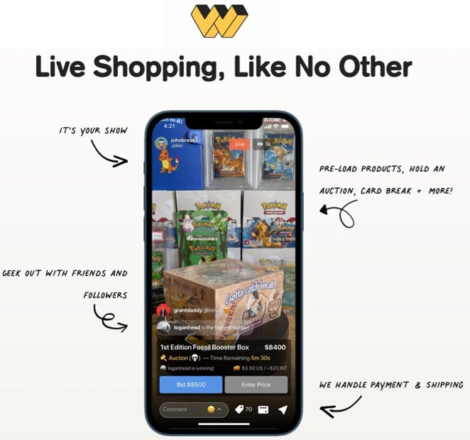 Whatnot - A Live Streaming Person-to-Person Collectibles Marketplace -  Small Business Labs