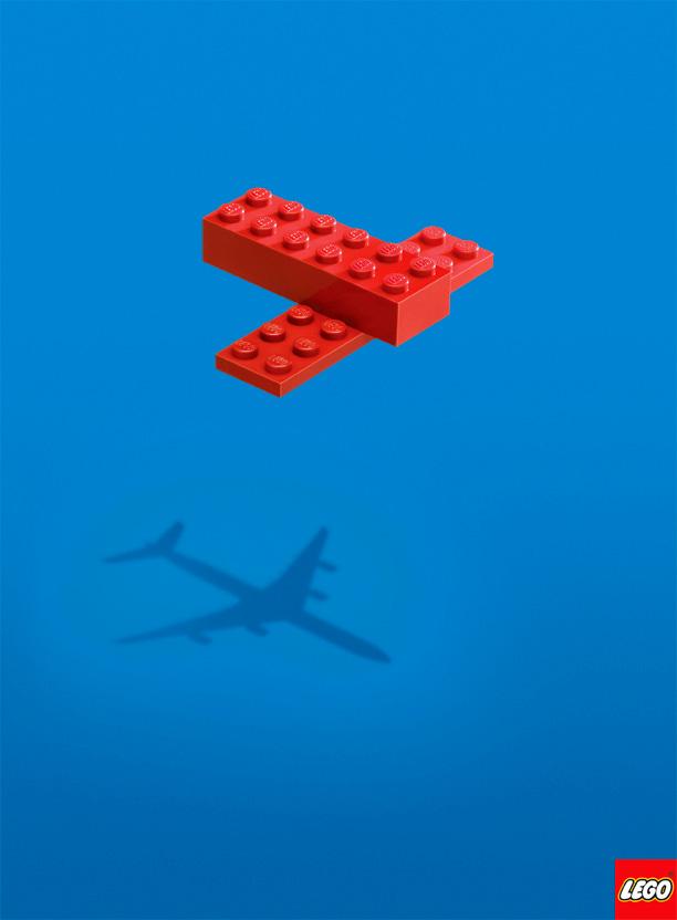 Two-piece LEGO airplane