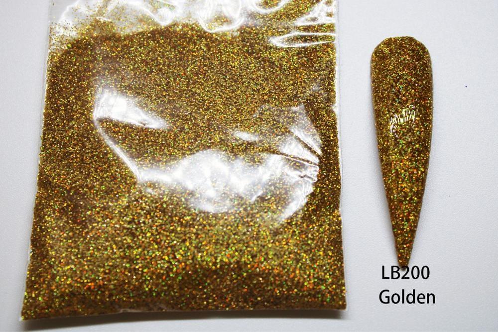 0.2mm Holographic Glitter Powder Shining Sugar Nail Glitter Dust Chrome Powder Nail Art Decorations 26 Colors 10g/pack