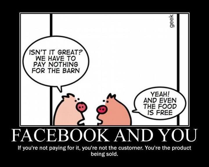 Facebook and You : You're not the customer, you're the product