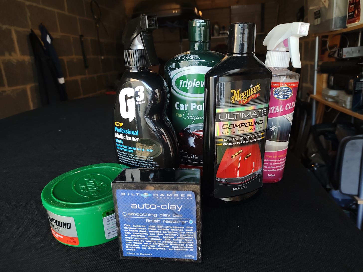 various cleaning and polishing products