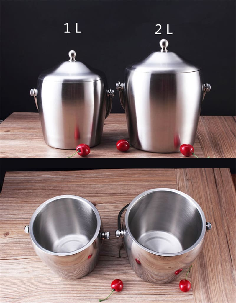Stainless Steel Ice Bucket Wine Champagne Bar Tool