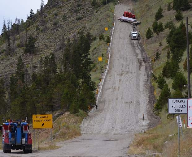 Runaway truck ramps near Silverthorne are the most frequently used in the  state | AspenTimes.com