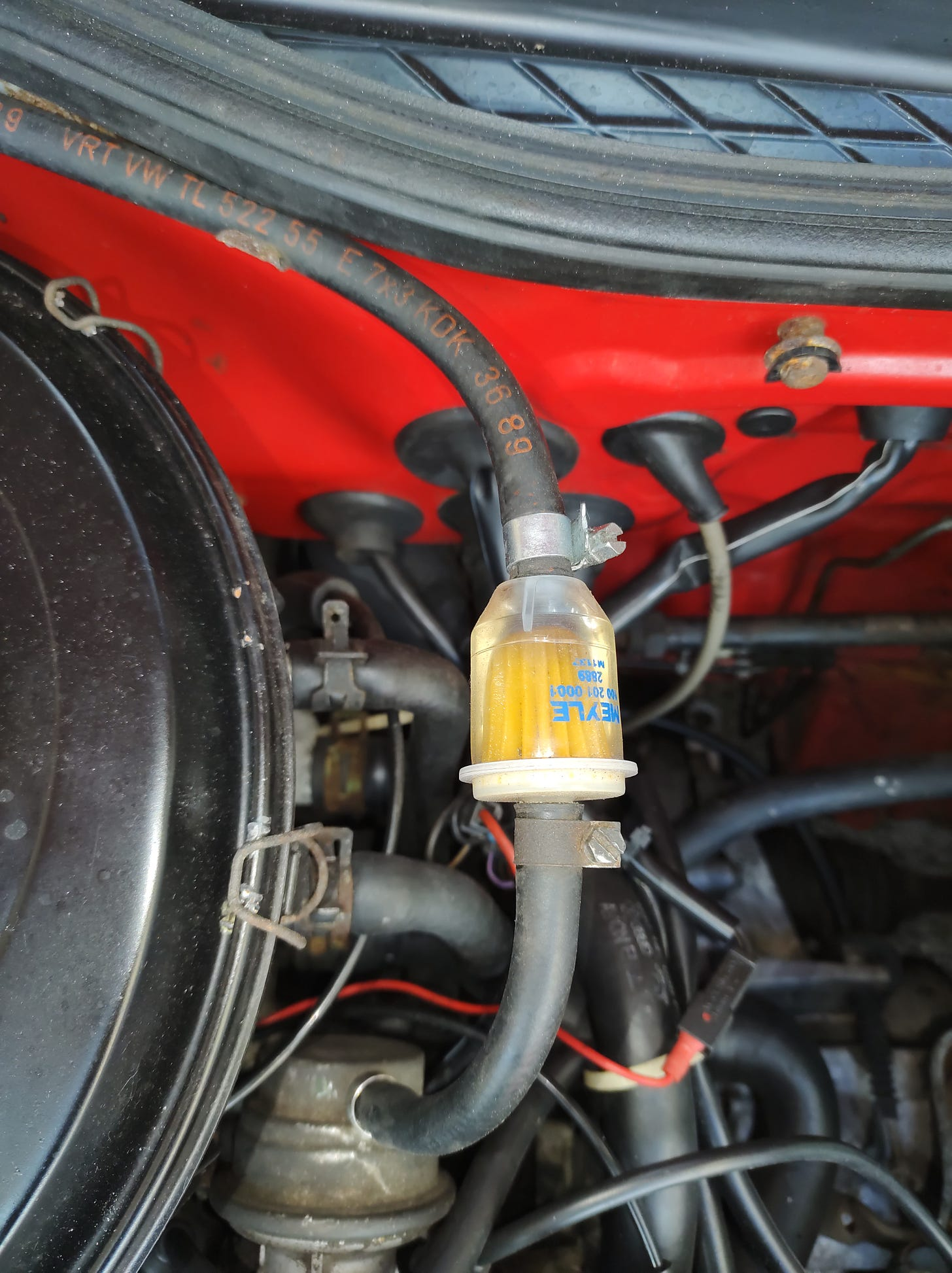 Old 'Mylex' fuel filter with paper element