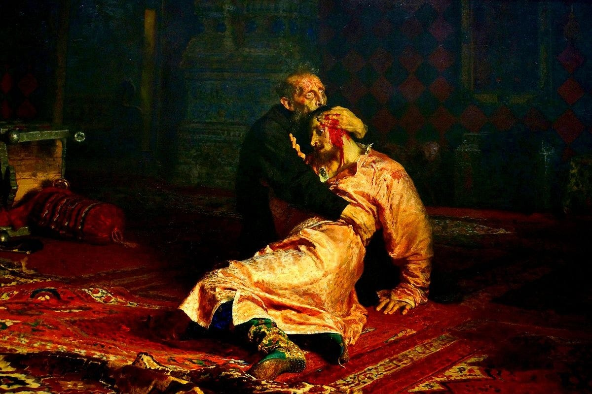 """""""Ivan the Terrible and His Son Ivan"""" by Ilya Repin"""
