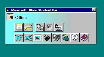 Microsoft Office shortcut bar.