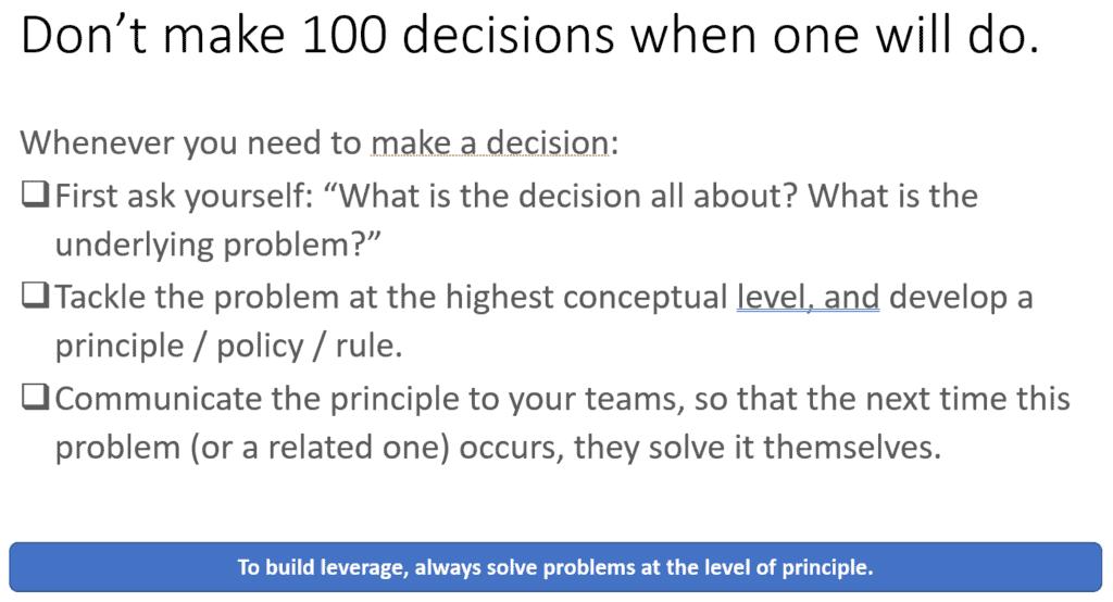 Team Management Principle 1