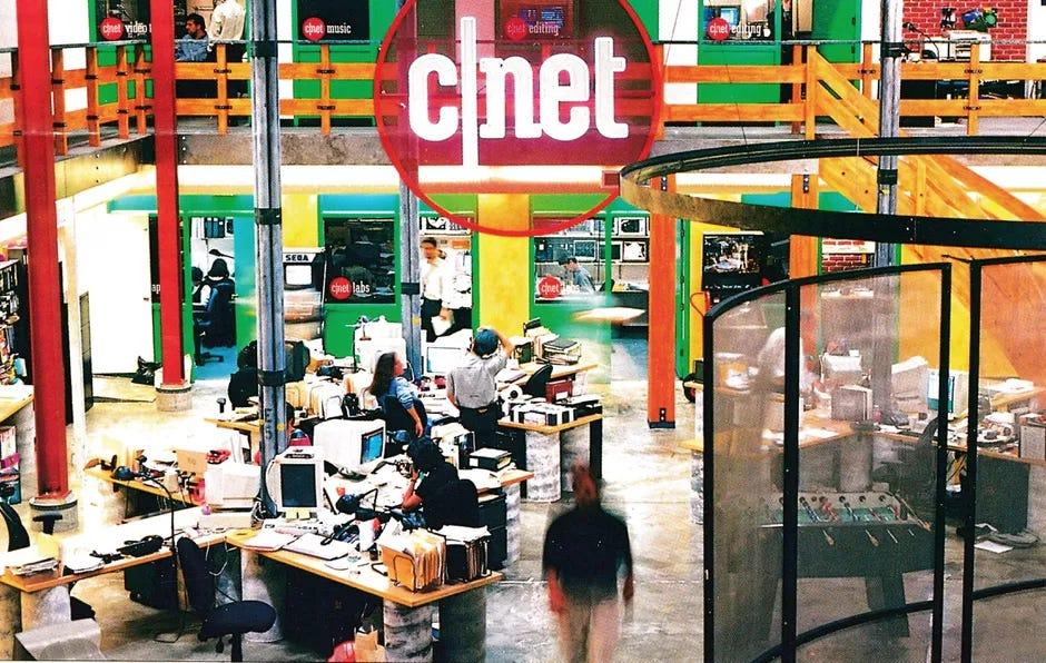 Photo of CNET headquarters circa 1996
