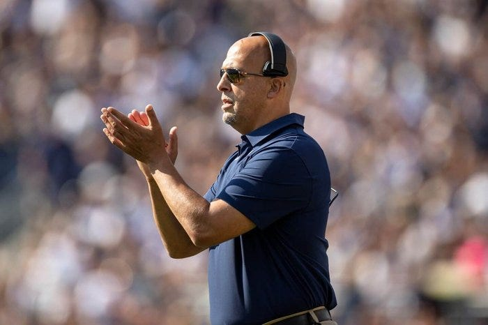 James Franklin, Luke Fickell deflect USC questions as coach search rumors  begin - The Athletic