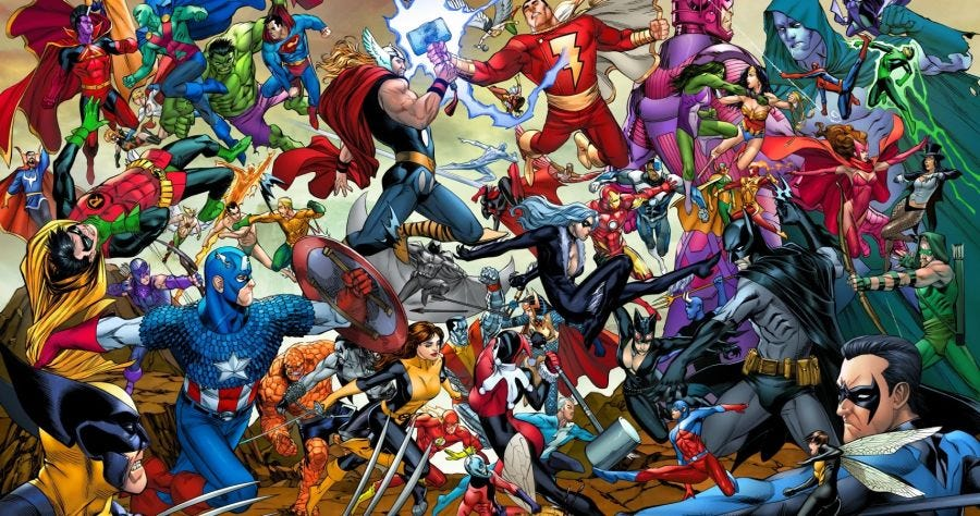 Image result for marvel vs dc locations""