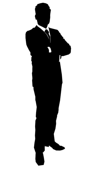 Business Man, Silhouette, Suit
