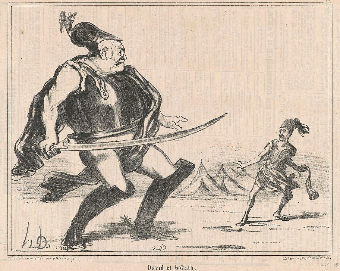 David et Goliath, Corcoran Collection