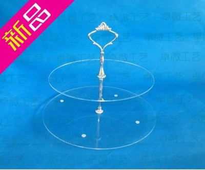 2 tier acrylic cupcake stand transparent acrylic dessert snack display rack cup cake stand holder silver hanging