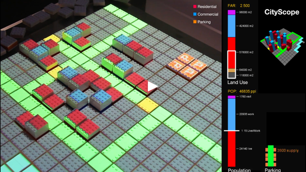 Video of Land Use and Transportation Simulator using LEGO