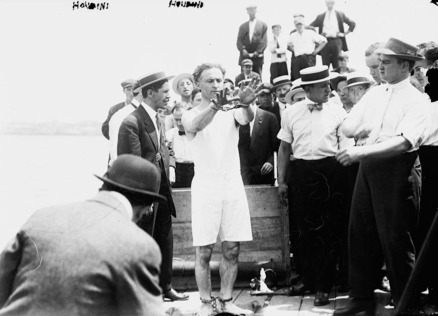 Harry Houdini American illusionist and stunt performer ...
