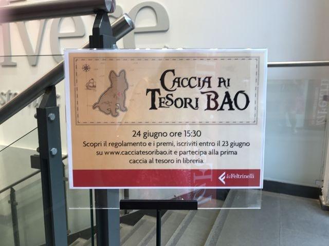 Caccia ai tesori BAO, dettaglio cartello