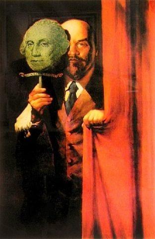 artnet Galleries: Lenin in George Washington Mask by Komar and Melamid from  Sloane Gallery of Art | Art, Famous art, Russian art