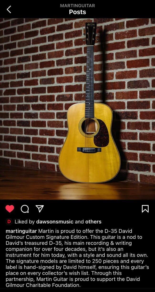 David Gilmour Signature Guitar
