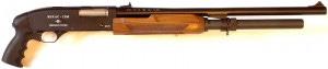 Pistol grip pump action shotgun