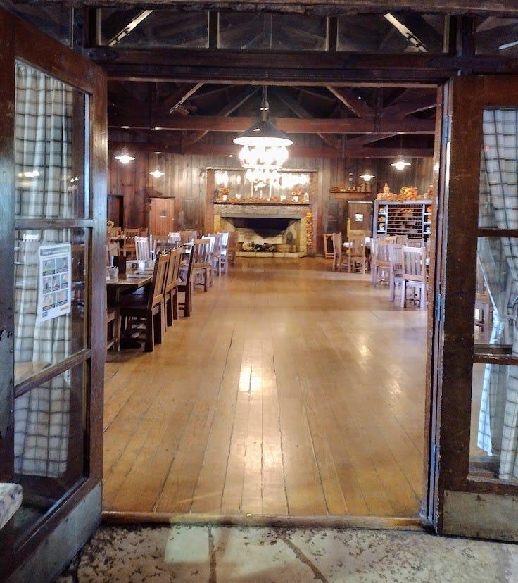 Wood dining hall