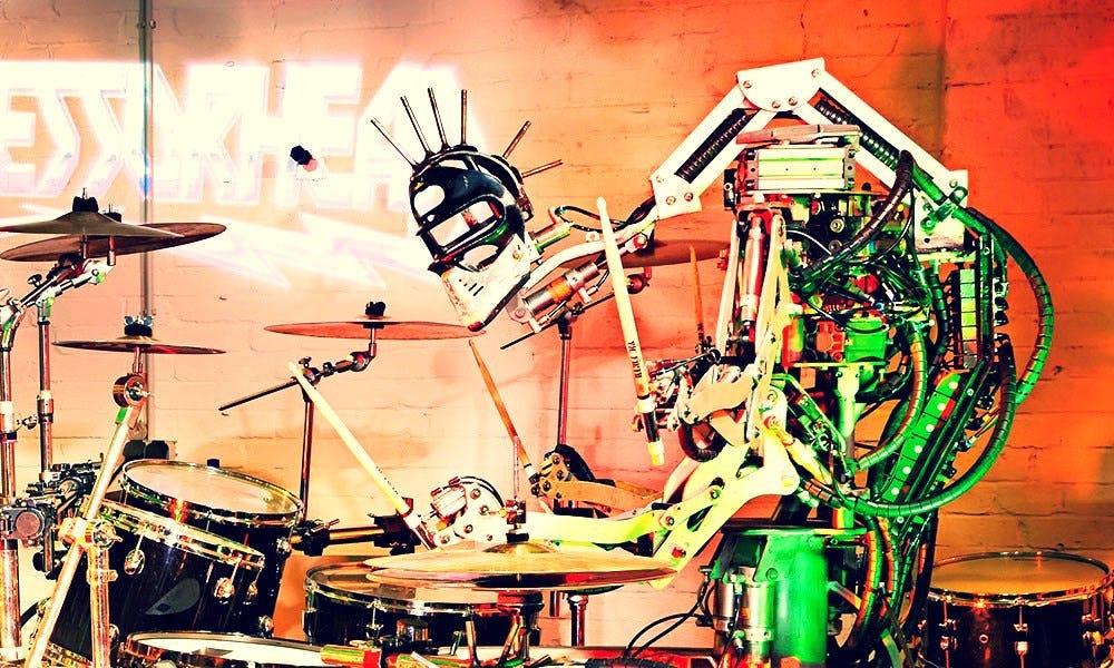 Робот Stickboy из Compressorhead